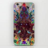 ganesha iPhone & iPod Skins featuring Ganesha by Archan Nair
