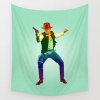 indiana Wall Tapestries featuring Indiana Solo Variant R by Parissis
