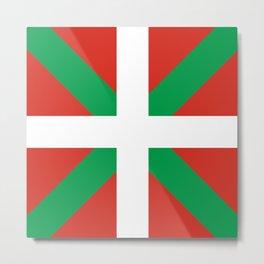 Basque Country: Euskaldun Flag Metal Print