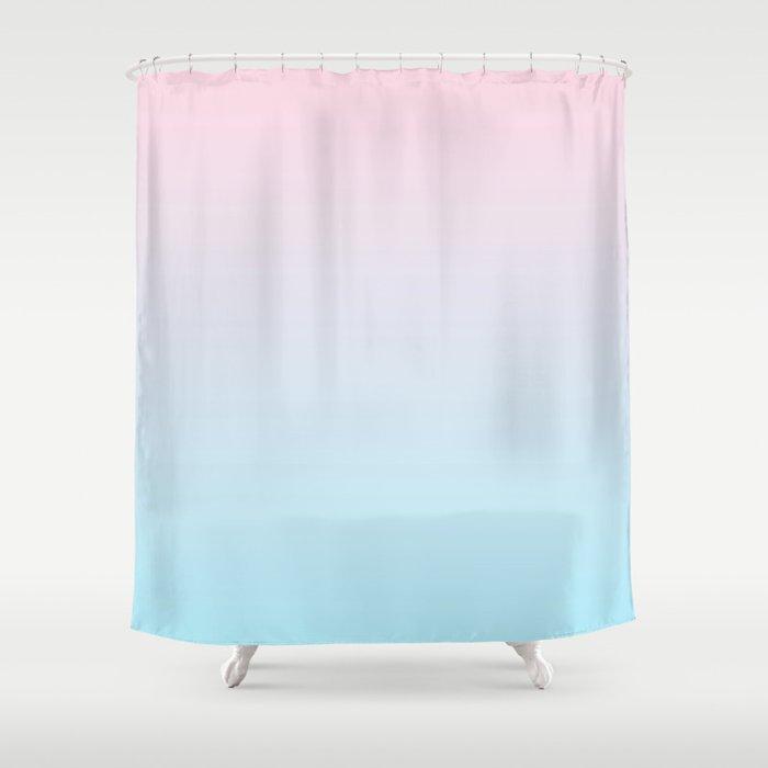 Pink Blue Fade Shower Curtain