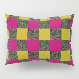 Yellow Patchwork Pillow Sham