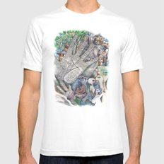 Hand of Good Friend White MEDIUM Mens Fitted Tee