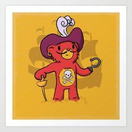 Captain Bear Hook Art Print