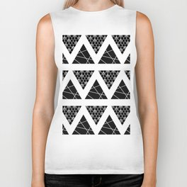 Split Diamonds Zentangle Biker Tank