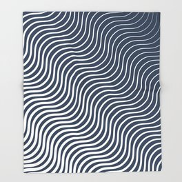 Whiskers Navy #583 Throw Blanket