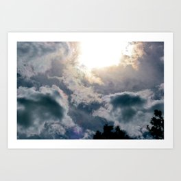 Out and Into the Blue Art Print