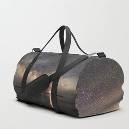 Milky way and the Twin lights Duffle Bag