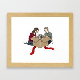 FitzSimmons get a Puppy Framed Art Print