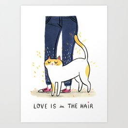 Love is in the hair Art Print