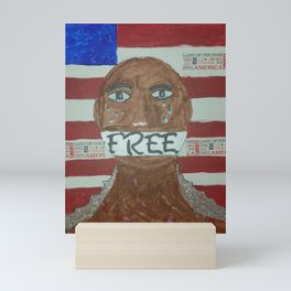 Shut Up, You're Free Now Mini Art Print