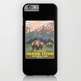 Wyoming Grand Teton National Park Mountain Hiking iPhone Case