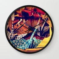 crane Wall Clocks featuring Crane  by Francessca.n.Angel