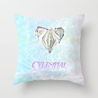 celestial Throw Pillows featuring Celestial by Peta Herbert