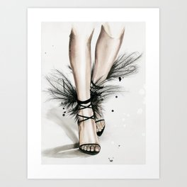 YSL shoes Art Print