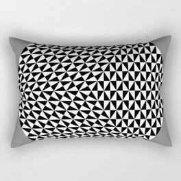Hexagon of Black and White Triangles Rectangular Pillow