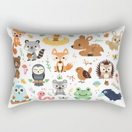 Woodland Animal Rectangular Pillow