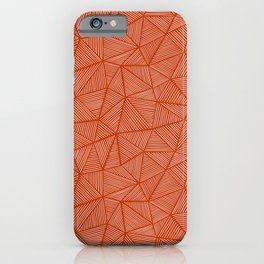 Rust Triangle Lines iPhone Case
