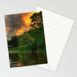 Sunset mammatus Stationery Cards