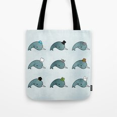 The many hats of Narwhals Tote Bag