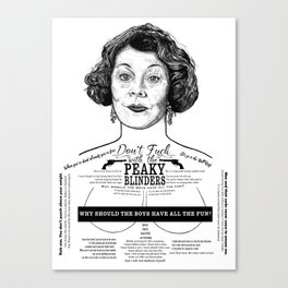 Aunt Polly 'Why Should The Boys...' Ink'd Series Canvas Print