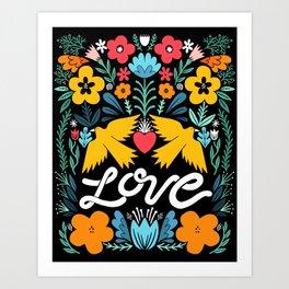 Love bird garden Art Print