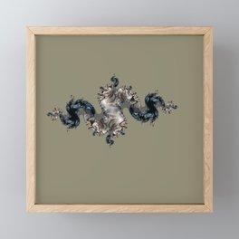 figure on the background Framed Mini Art Print