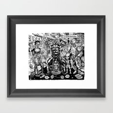 Monsters and Robots Framed Art Print