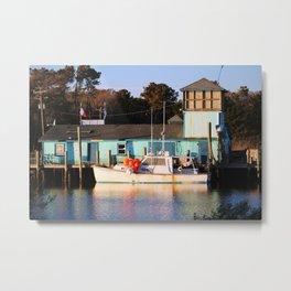 Boat And Market Metal Print