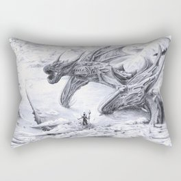 Attack on Titan Dragon Rectangular Pillow