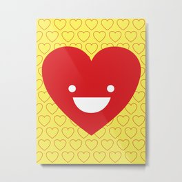 Happy Heart Metal Print