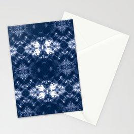 Shibori Tie Dye 1 Indigo Blue Stationery Cards