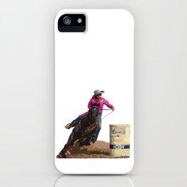 Barrel Racing iPhone Case