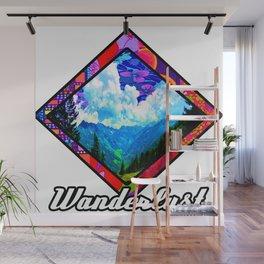 Wanderlust Mountains Wall Mural