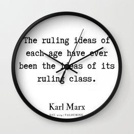 30  | Karl Marx Quotes | 190817 Wall Clock