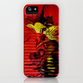 Flor kitsch I love iPhone Case