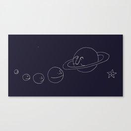 Smiling Solar System - Navy Canvas Print