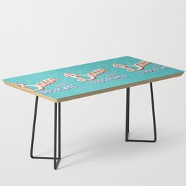 Bacon is my chocolate hand lettering typography modern poster design Coffee Table