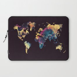 world map 79 yellow black Laptop Sleeve