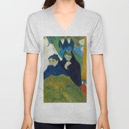 1888 - Gauguin - Arlésiennes (Mistral) Unisex V-Neck