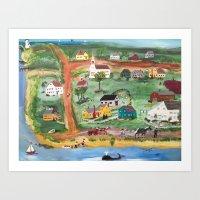 Cape Cod Village Art Print