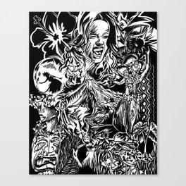 Pele, Volcano Goddess Canvas Print