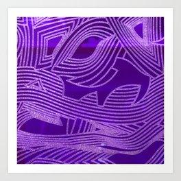Symphony of Purple Sky Art Print
