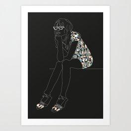 Josie - Black Version Art Print