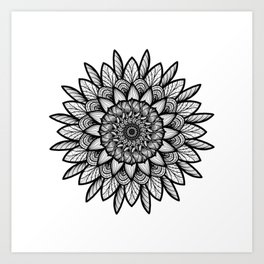 Circle is back Art Print