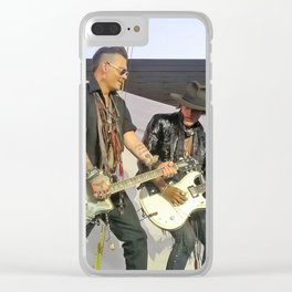 Johnny Depp Joe Perry Hollywood Vampires Clear iPhone Case