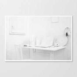whitw Canvas Print