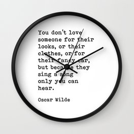 They Sing A Song Only You Can Hear, Oscar Wilde Motivational Quote Wall Clock