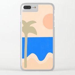 abstract paradise 4 Clear iPhone Case