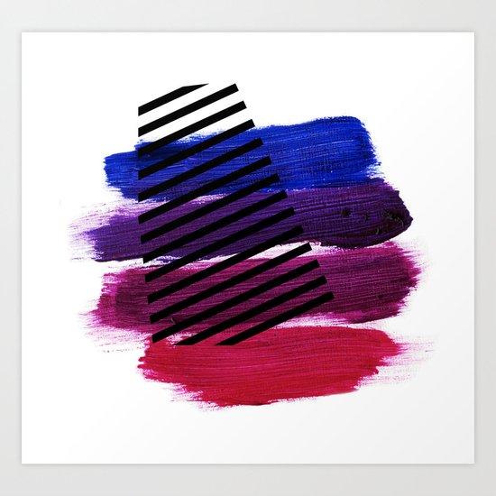 Magenta Broadcast Art Print