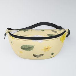 Yellow Flowers & White Roses 5 Fanny Pack